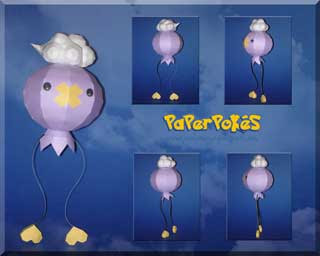 Pokemon Drifloon Papercraft
