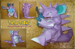 Pokemon Nidoking Papercraft