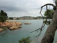 vistas desde el camino de ronda de Sant Feliu a Sant Pol. La foto es de María José
