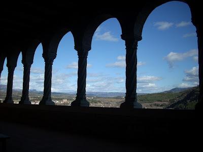Vistas desde el Monasterio de la Virgen de la Peña en Graus
