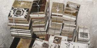 Uno de los cuadros de Bea Sarrias, la foto es de Morrosko Vila San Juan