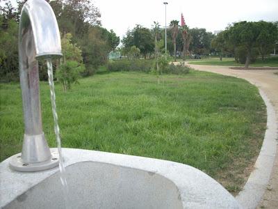 una de las fuentes del parque de la granvia de l'hospitalet, foto bloghospitalet