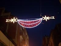 luces de navidad en la calle Pareto de l'Hospitalet de Llobregat