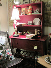 Just Sold at Just The Thing! Burgandy Painted Rock Maple Hutch