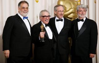 Coppola, Spielberg e Lucas festejam a vitória de Scorsese