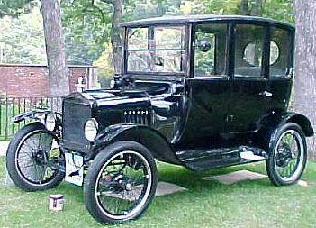 1920 ford model t center door sedan