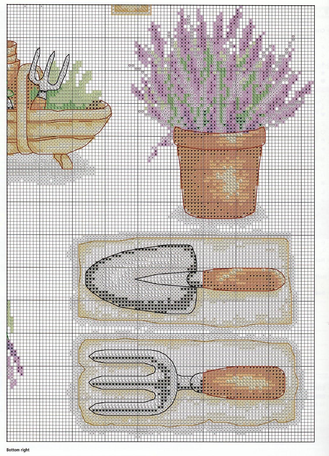 Схемы вышивания лаванды