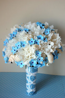 forgetmenots wedding bouquet
