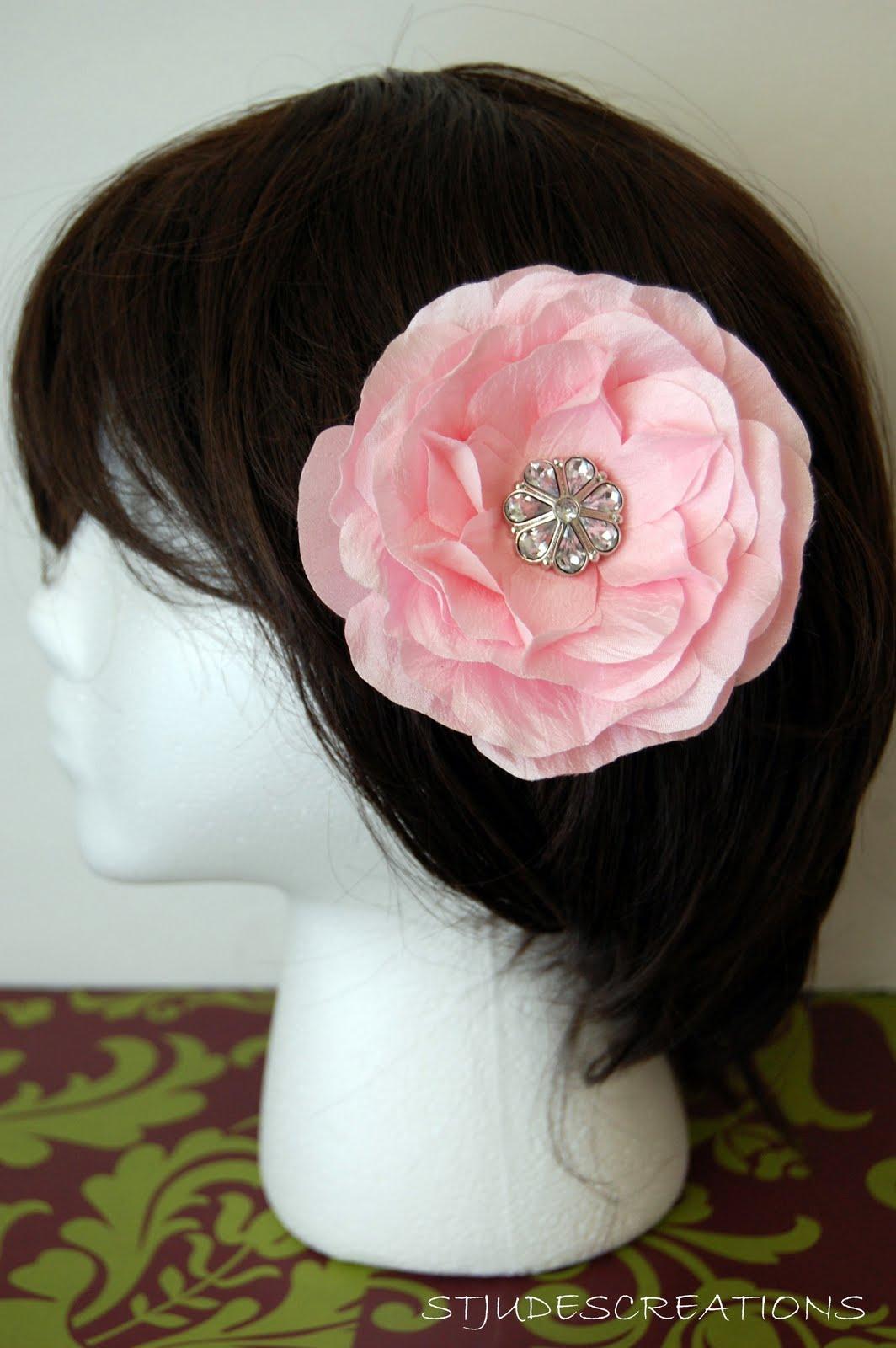 Hair Flower Wedding Handmade Paper Flowers By Maria Noble