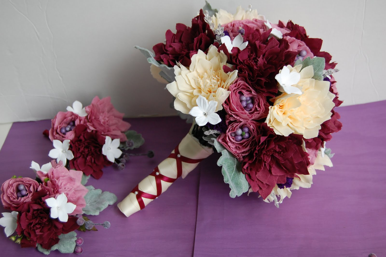 Dahlia wedding bouquet for MaryAnn | Handmade PaPer FloweRs by Maria ...