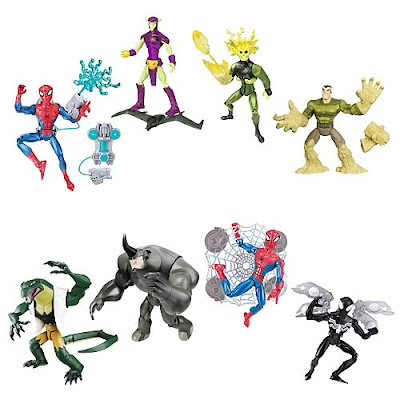 On sale approximately October 2008 go here to see high-res Black Costume Spider-Man with Jet Pack Electro Electro Blast Spider-Man Lizard ...  sc 1 st  Super Punch & Super Punch: Spider-Man Animated Series 3 Action Figures