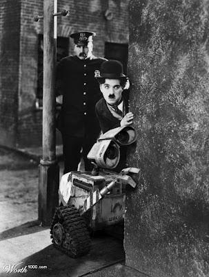 charlie chaplin poster. Wall-E and Charlie Chaplin,