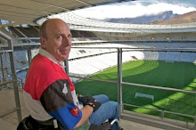 "alt text image ""Guy Davies at 2010 World Cup stadium in South Africa"""