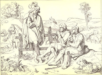 Joseph Ritter von Führich. Golo bei den Hirten