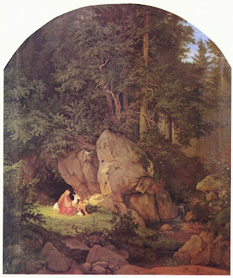 Adrian Ludwig Richter Genoveva in der Waldeinsamkeit Genoveva in the Forest Seclusion