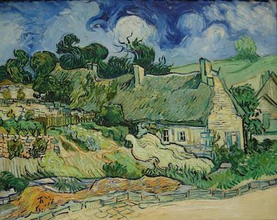 Van Gogh. Thatched Cottages at Cordeville