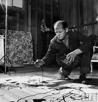 Pollock Jackson. photo front view crouch hands