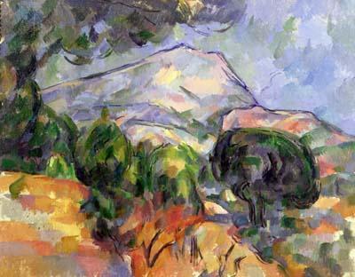 Cézanne. Montagne Sainte-Victoire au-dessus de la route du Tholonet