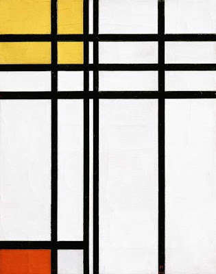 Mondrian. Opposition of Lines, Red and Yellow. 1937