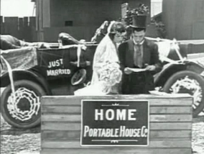 Buster Keaton. One Week. Model house in box