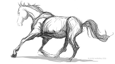 sketch of horse