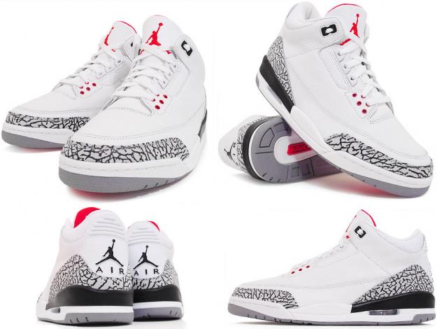 Jordan 3s Cement Gray : Flylife fashion air jordan white cement grey