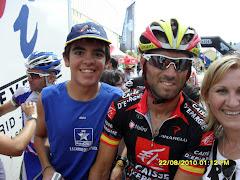 Con Alejandro Valverde
