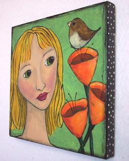 girl paint acrylic canvas