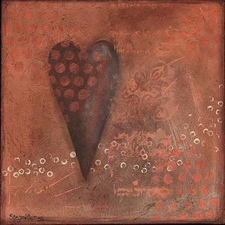 heart painting acrylic art