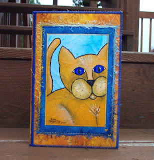 kitty cat notepad folder holder