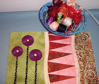 fabric fiber collage quilt