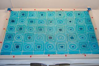 fabric batik resist color stretcher frame