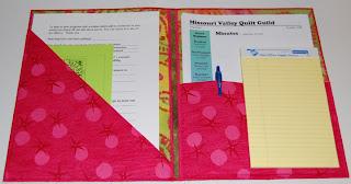 folder folio paper notepad fabric