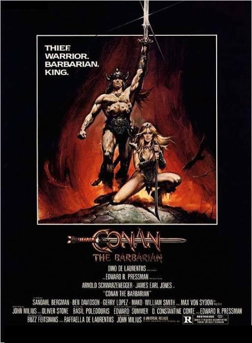 conan the barbarian poster. el origen de Conan está en