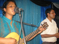 Shanti leading the worship