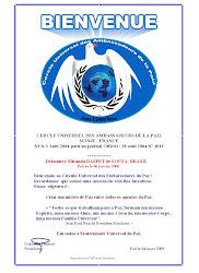 Diploma do Cercle Universel des Ambassadeurs de la Paix