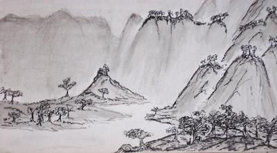 Le Petit Bureau D Elferaleur Paysage Chinois
