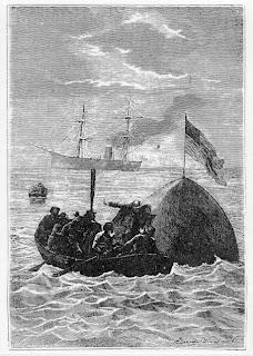 Splashdown according to Jules Verne...