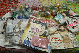 magazines, gashapon