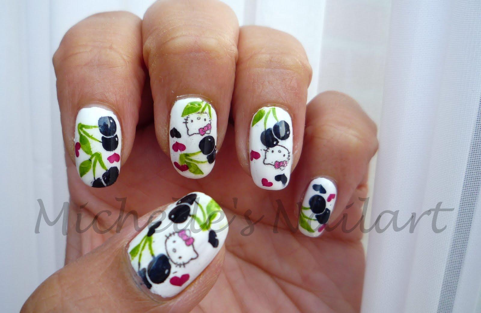 Hello kitty nail art sticker