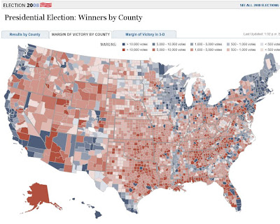 The Washington Post - Presidential Election: Winners by County