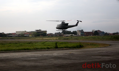 Puspenerbad Terima 1 Unit Helikopter Bell 412 EP Dari PT.DI