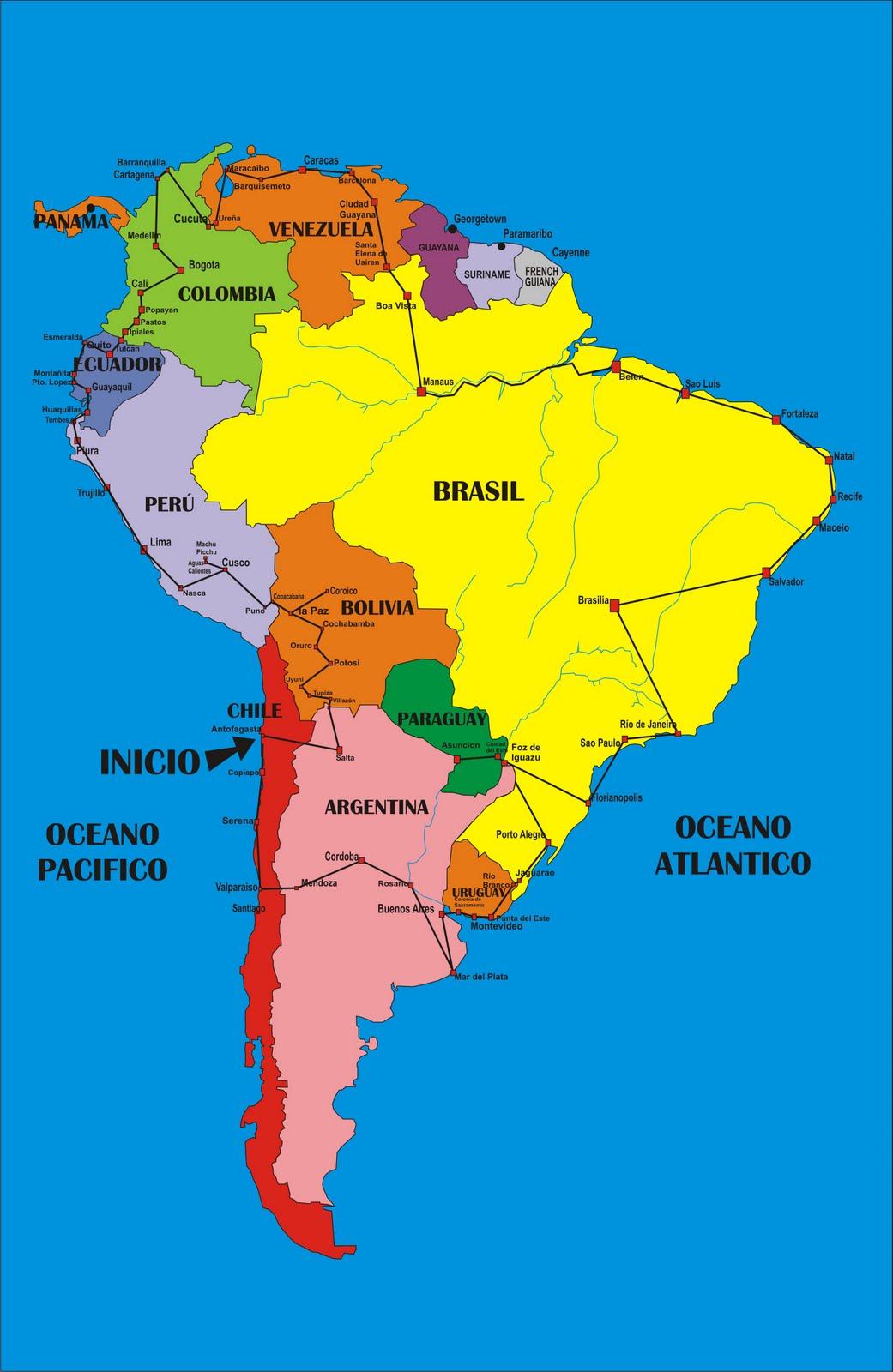 Mappa Muta Sud America