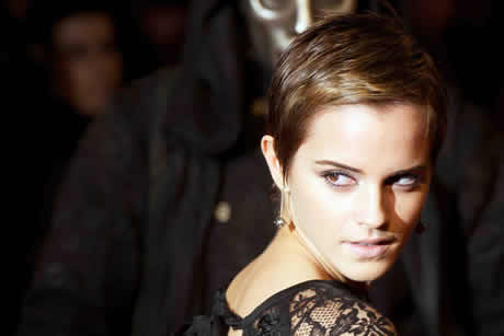 emma watson short hair pictures. Emma Watson shows off her