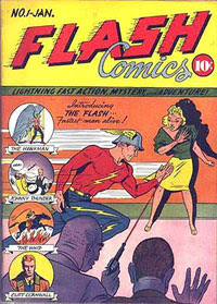 Flash Comics #1 poster - retitled Whiz Comics
