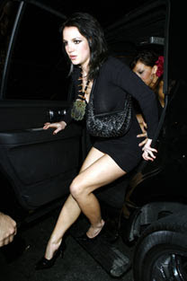 Britney Spears back partying as a brunette!