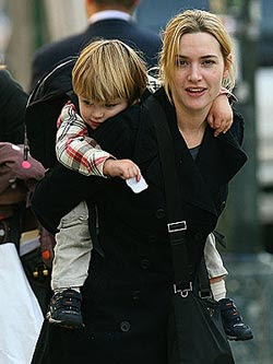 Kate Winslet with son joe