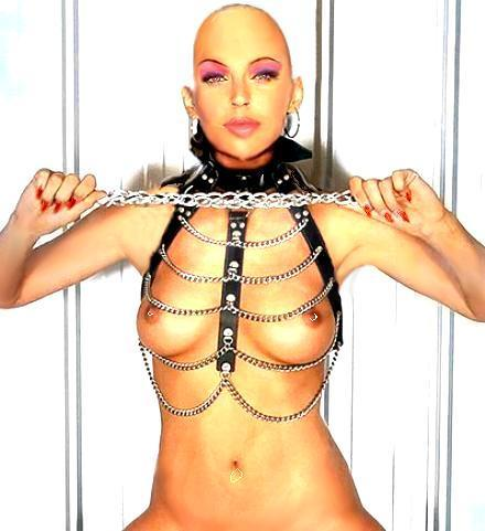 BarefootZatannaEscapeArtist Metallic silver halter neck Playboy bikini