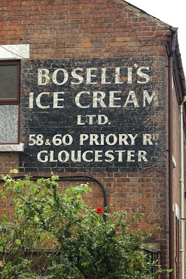 Boselli ice cream ghost sign Gloucester