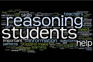 This is a Wordle produced from a paper I wrote on understanding reasoning.